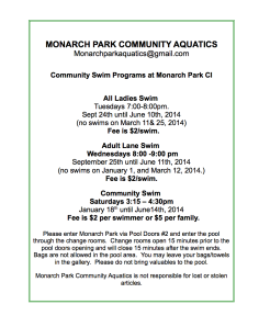 Monarch Park Community Aquatics