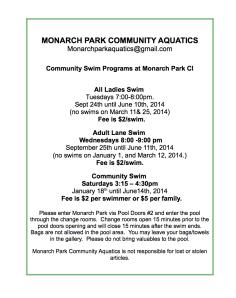 Monarch Park Community Aquatics