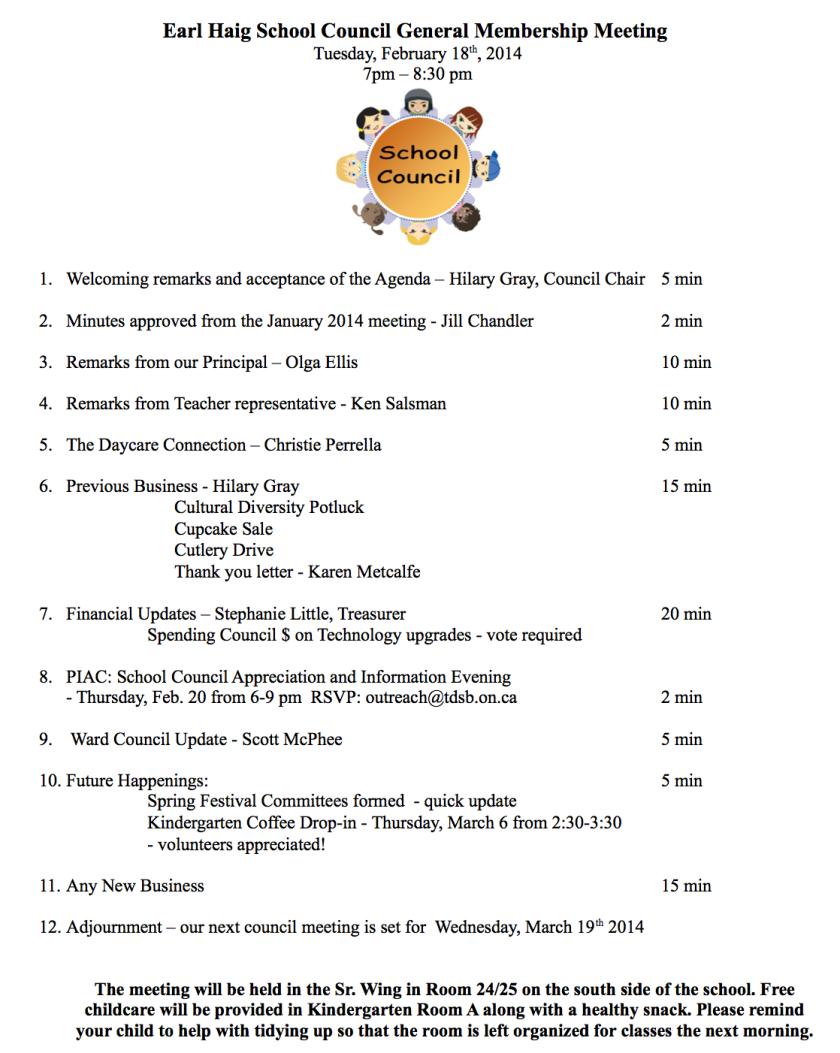 Tues., Feb. 18 Council Meeting Agenda