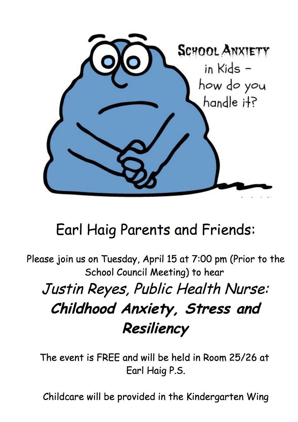 Is Your Child Stressed or Anxiety?  Come check this out Tomorrow Night