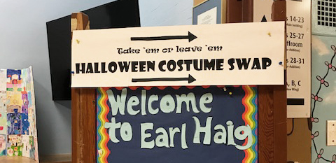 Costume swap sign