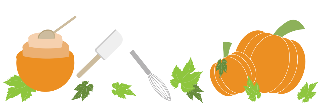 pumpkins leaves baking utensils