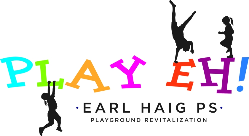 Children in silhouette playing on Play EH! letters