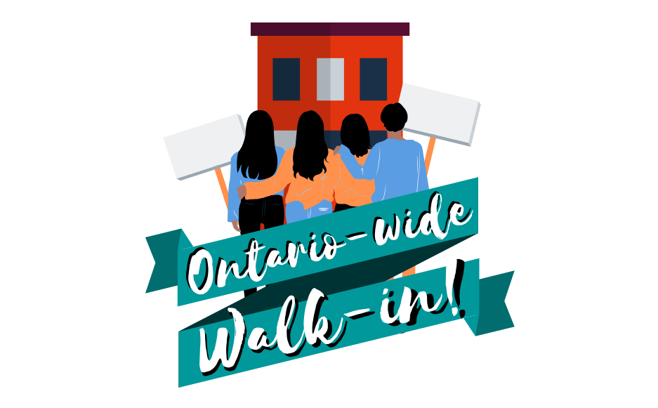 Ontario-wide Walk-in Graphic