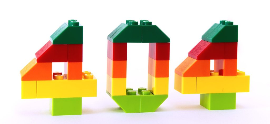 404 numbers created with Lego pieces
